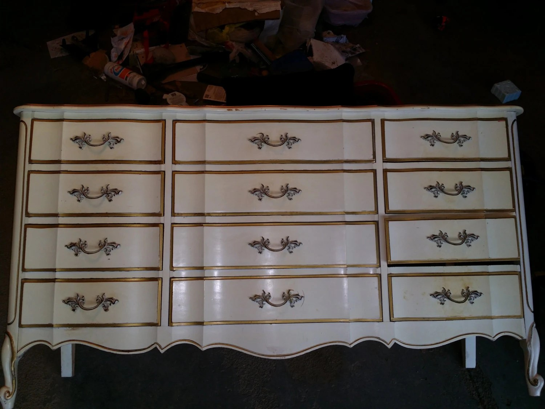Vintage Antique French Provincial Dixie Furniture Dresser