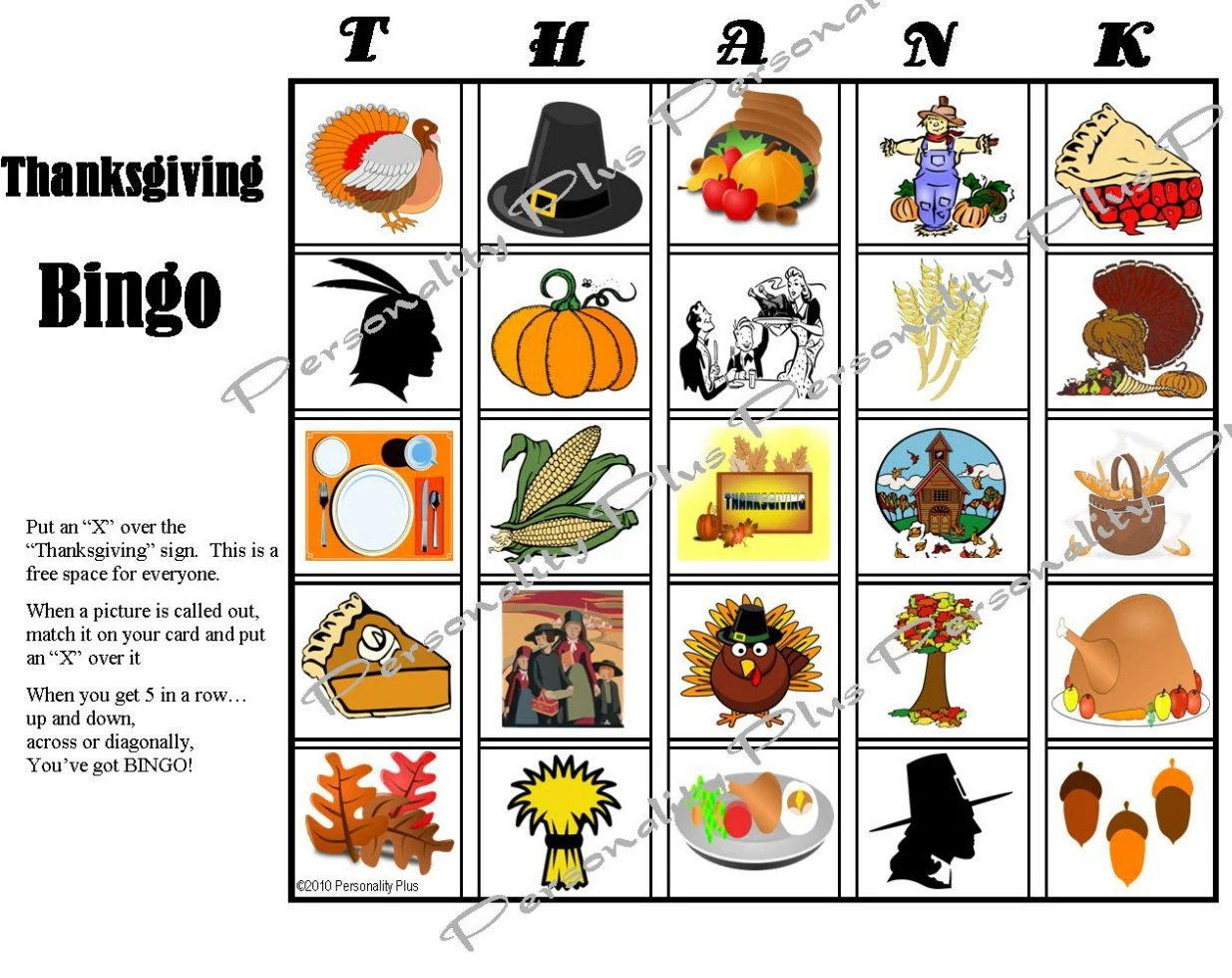 Printable Thanksgiving Bingo And Indoor Scavenger Hunt Games