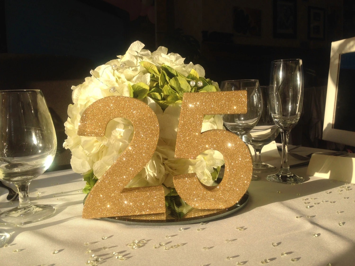 25th Party Anniversary Decoration Wedding