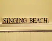 Hand Painted Reclaimed Wood Beach Sign - ShackteauInteriors