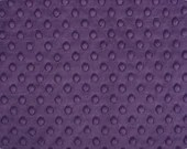 Shannon Minky Cuddle Fabric, Dimple Violet, Minky Fabric, Soft Minky
