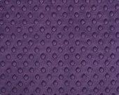 Shannon Minky Cuddle Fabric, Dimple Violet, Minky Fabric, Soft Minky