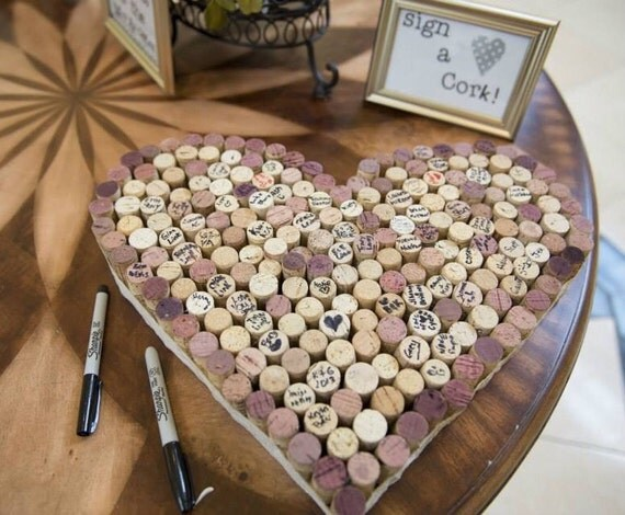 Items Similar To Handmade Wine Cork Guestbooks On Etsy
