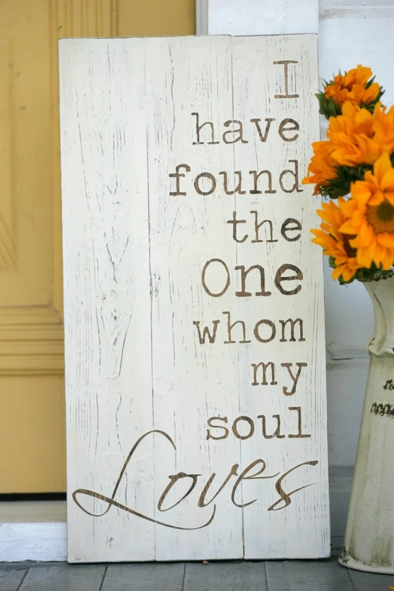 Download I have found the one whom my soul loves, Hand painted wood ...