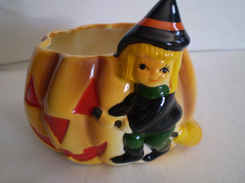 Ceramic Pumpkin Planter
