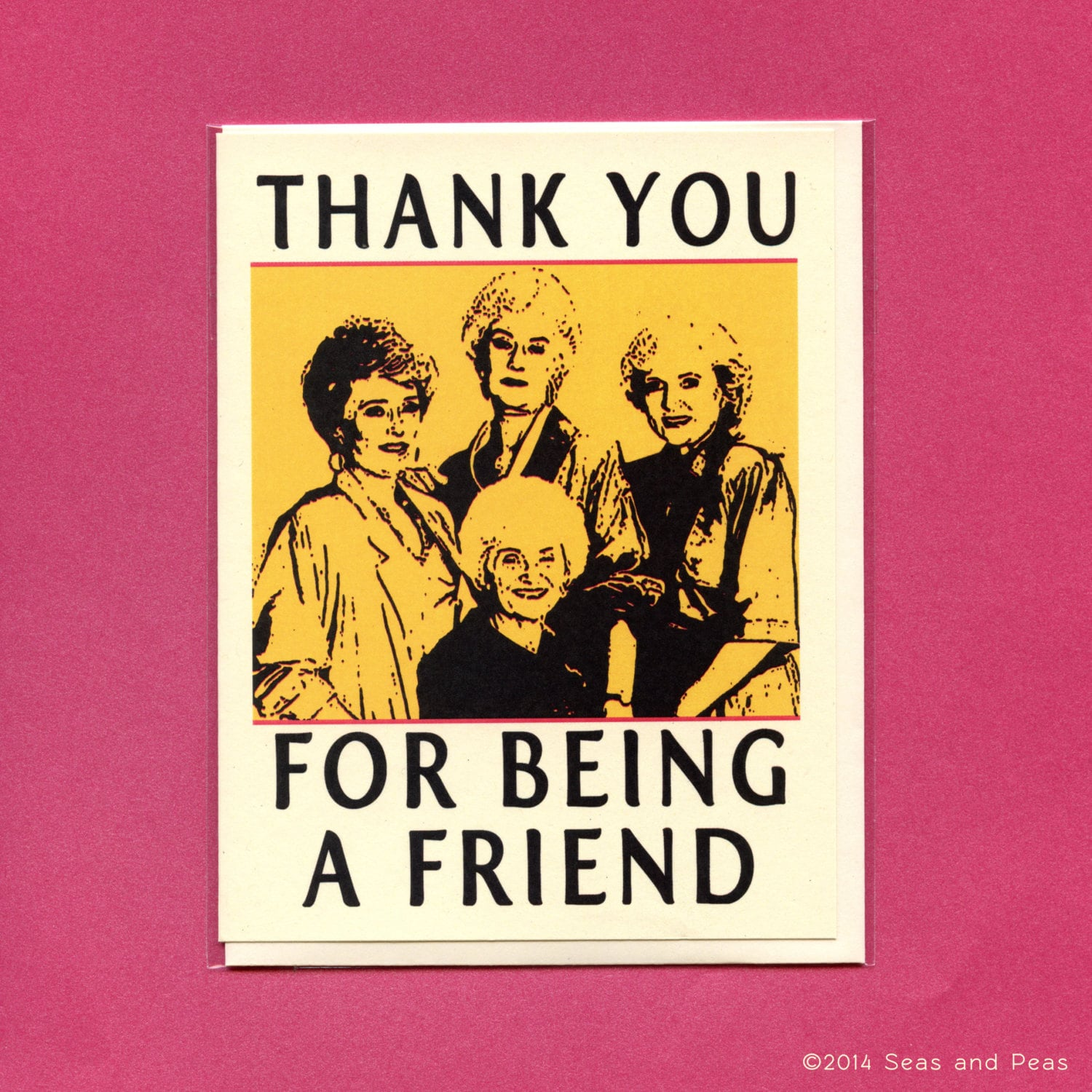 Thank You For Being A Friend The Golden Girls Card By
