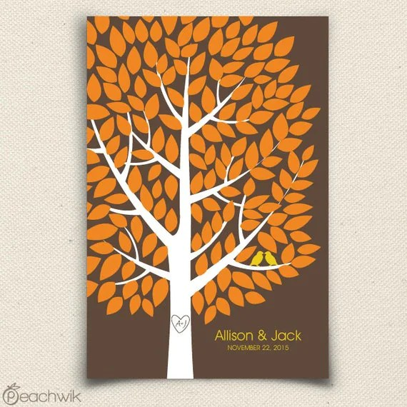 Fall Wedding Guest Book