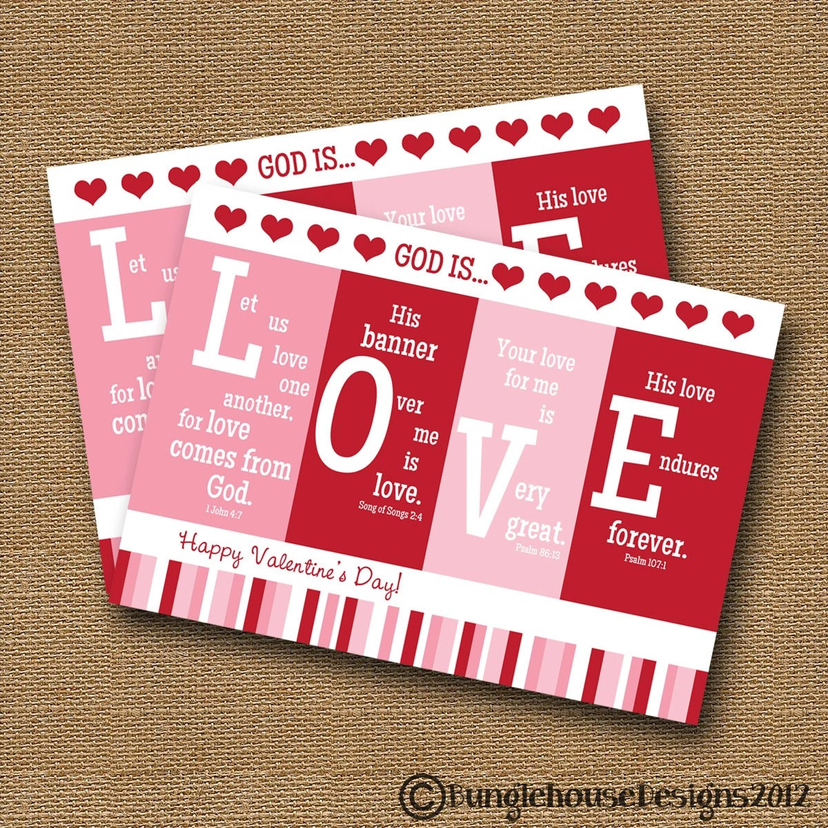 Printable Valentine Card Christian Scripture Bible Verse