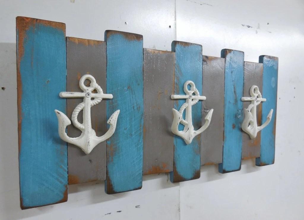Nautical Coat Rack Coastal Wall Decor Beach Coat Rack Cast