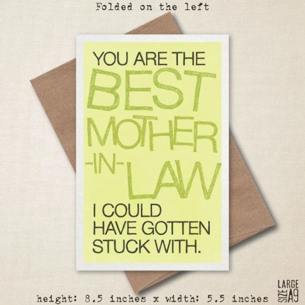 You're The Best Mother-In-Law Mother's Day Card
