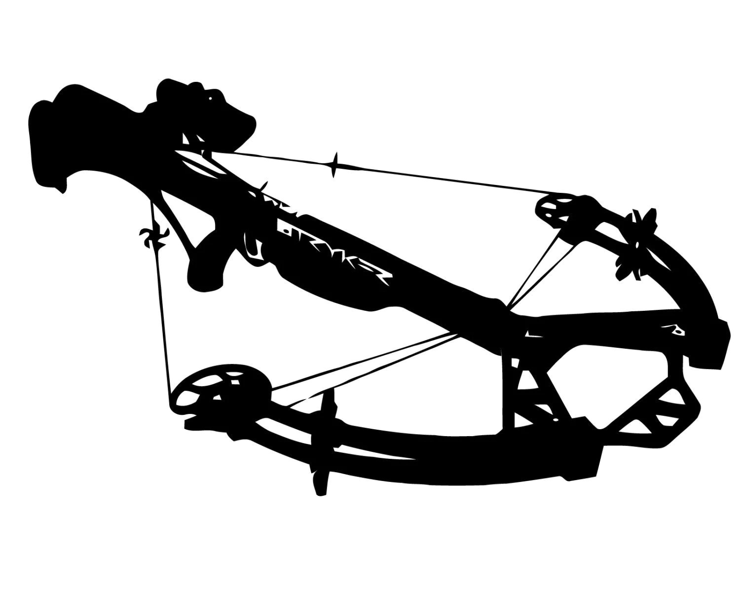 Crossbow Hunting Vinyl Decal Crossbow Hunter By