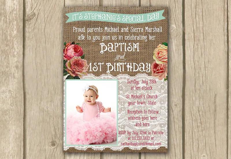 Invitation Birthday And Baptism
