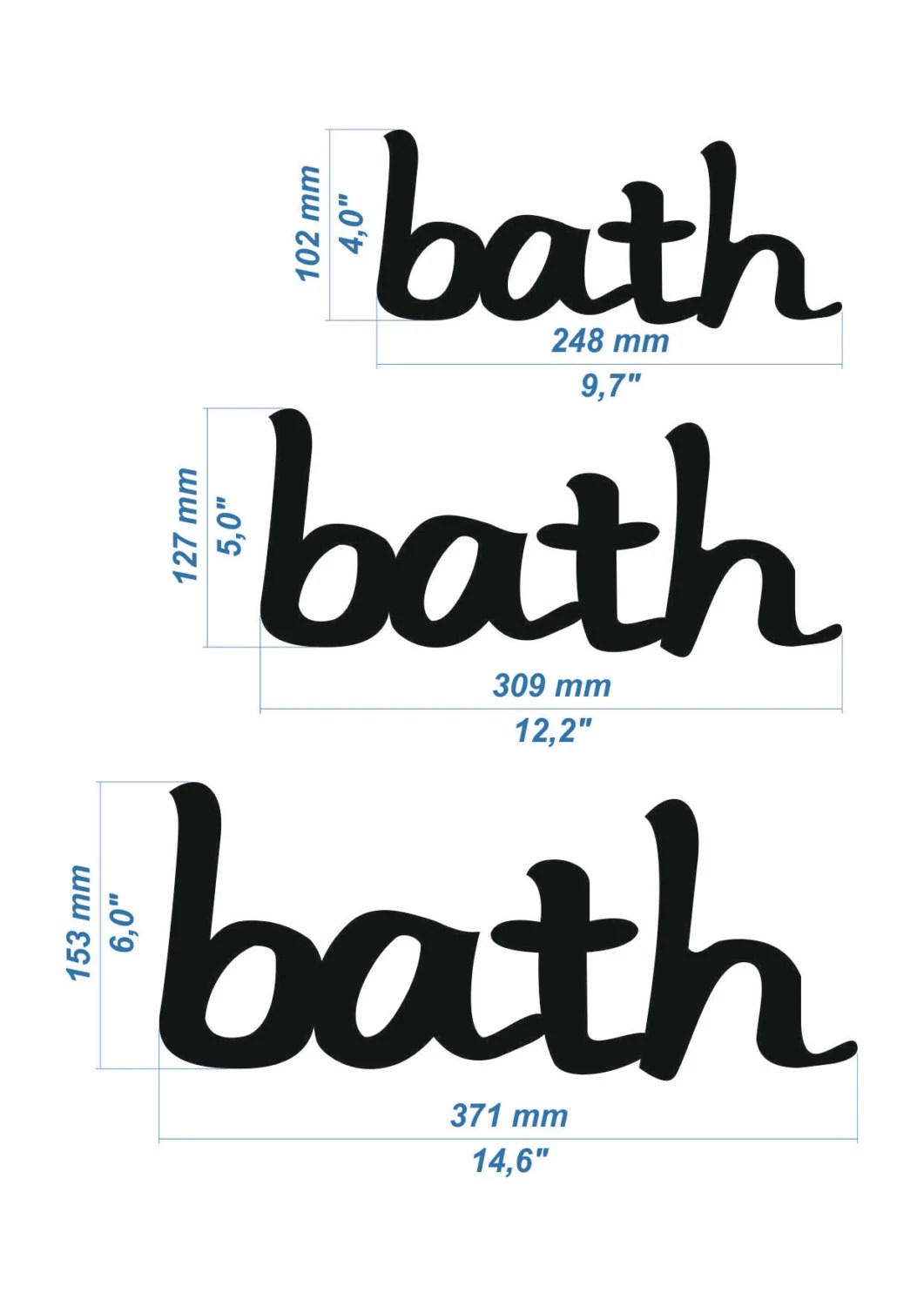 Bathroom Decor Wall Decor Bath Sign Wooden Letters Cottage