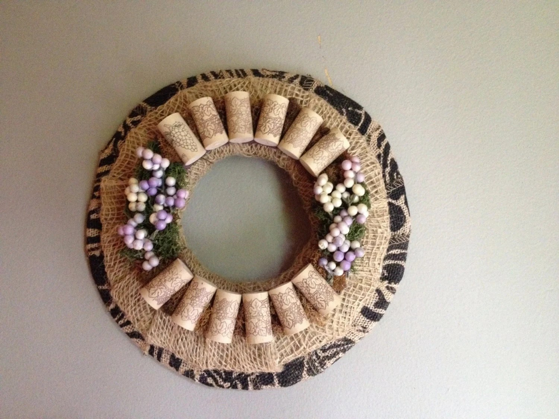 Wine Cork Wreath/rustic Wreath/candleholder/ Wine Cork Decor/