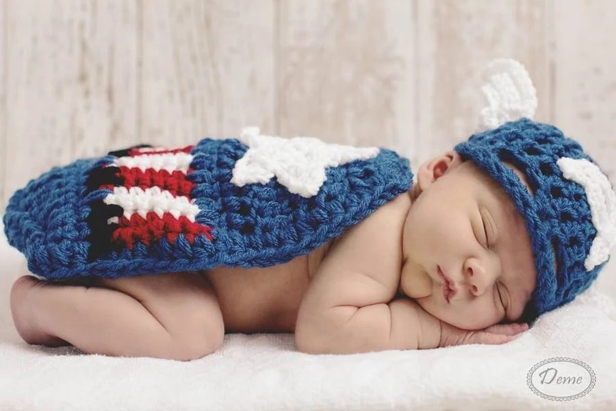 Crochet Hat And Diaper Cover Thanksgiving