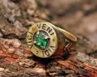 Bronze Green Chrysolite Veni Vidi Vici Caesar Roman Sun Jupiter Arrow Victory Ring Size 10