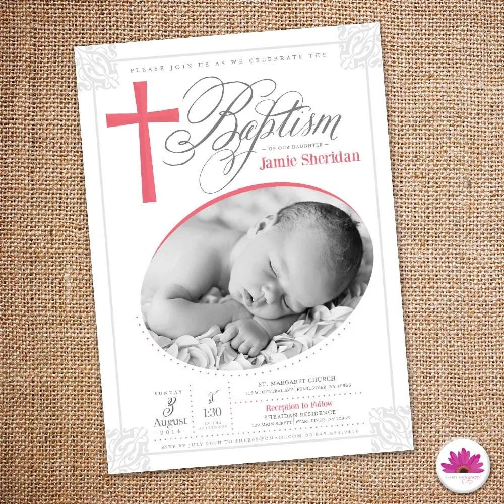 Digital Christening Invitations