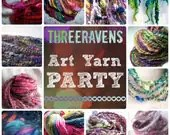 Handspun Yarn Club - Threeravens ART YARN PARTY - 3 months of unique handspun yarn