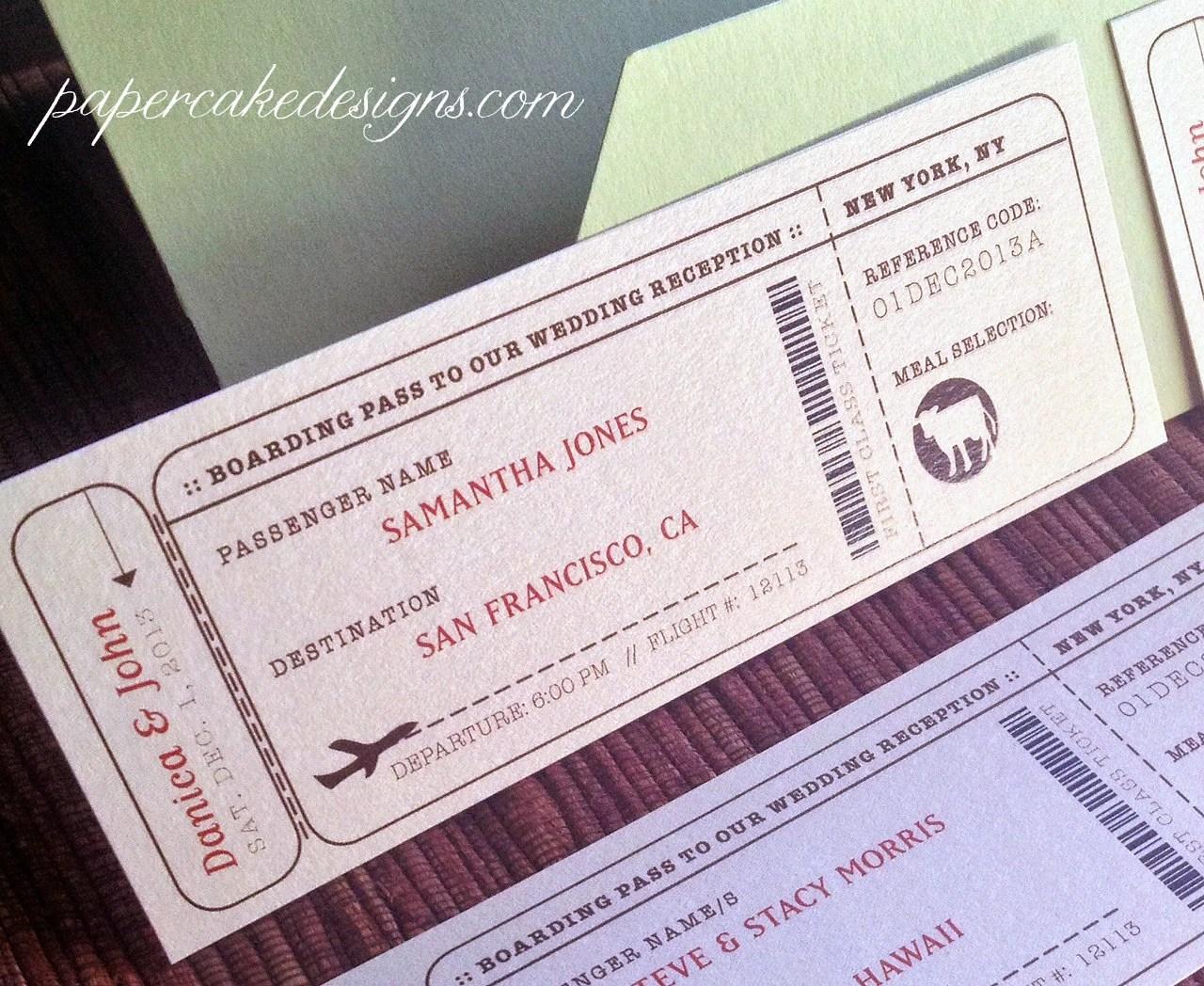 Travel Escort Seating Ticket DIY Printable Interactive PDF