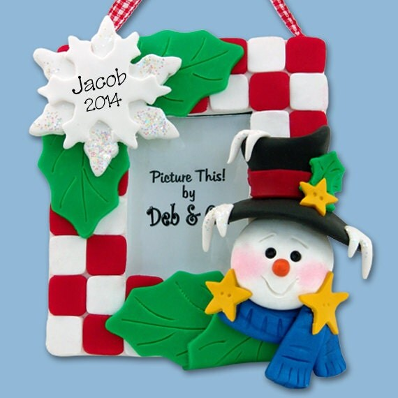 homemade christmas picture frames | secondtofirst.com
