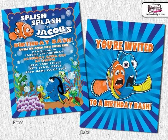 Printable Nemo Invitations