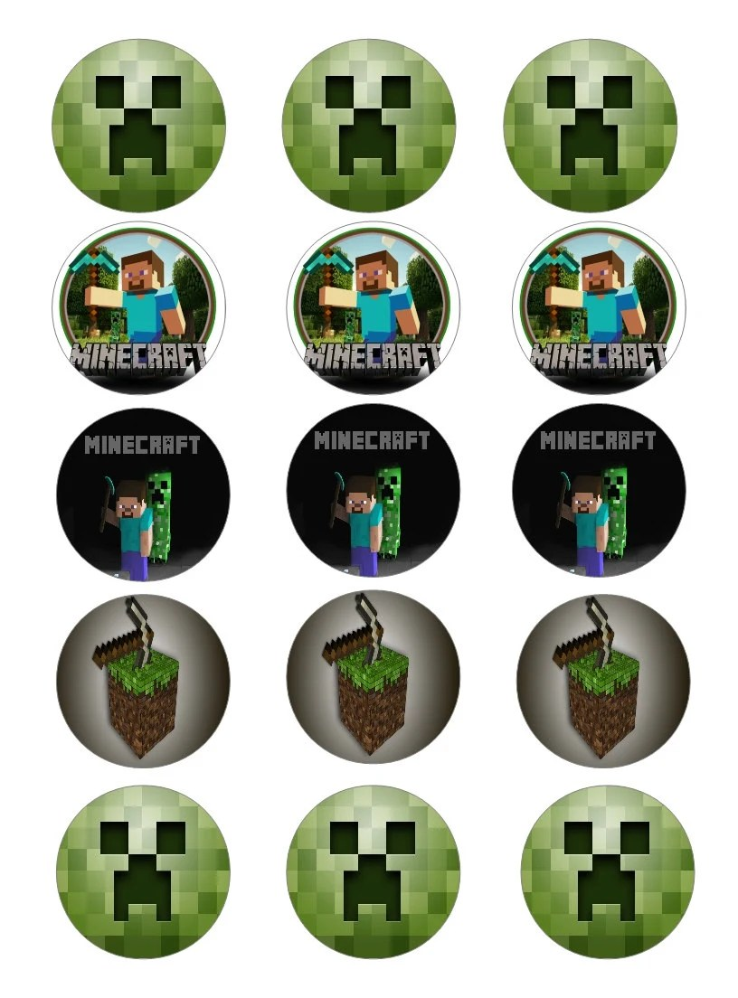 Minecraft Cupcake Toppers Cake Ideas And Designs