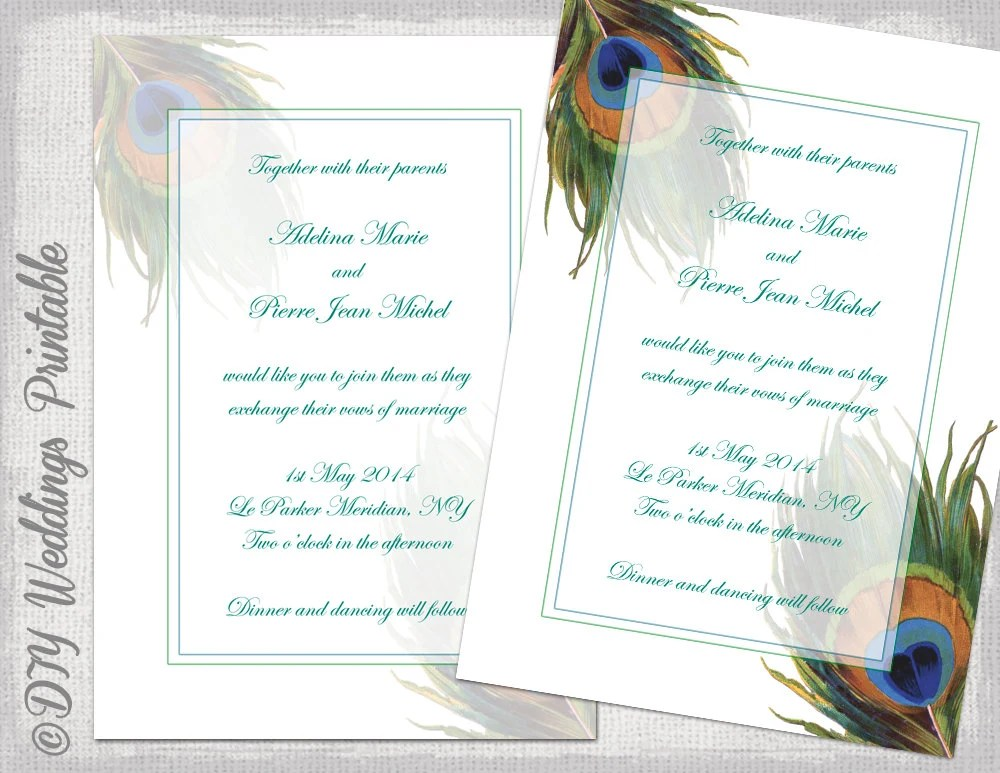 Design Your Own Printable Invitations