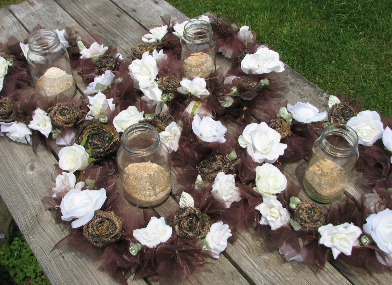 Items Similar To Camo Wedding Lighted Centerpiece Set Of 4