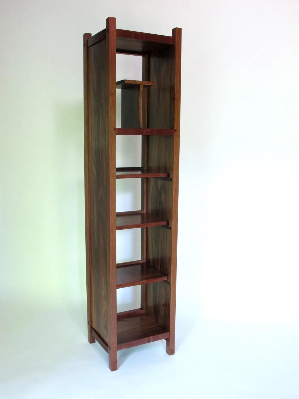 Tall Narrow Open Bookcase