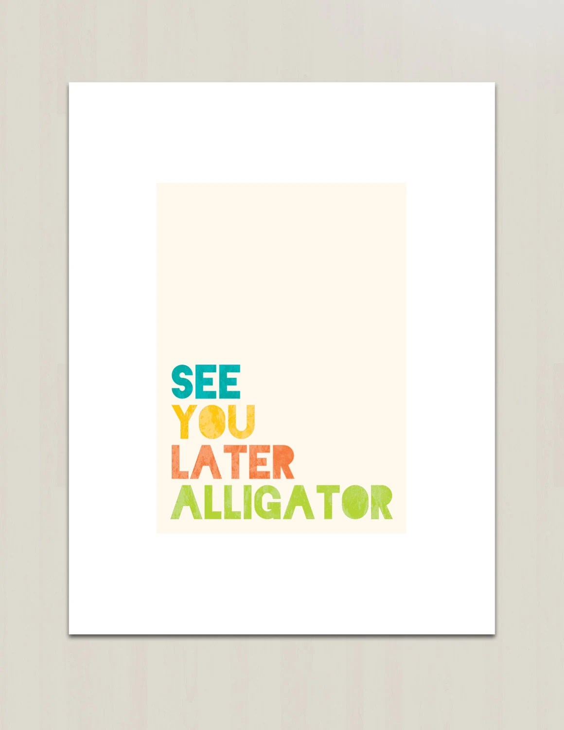 See You Later Alligator Print Nursery Childrens By