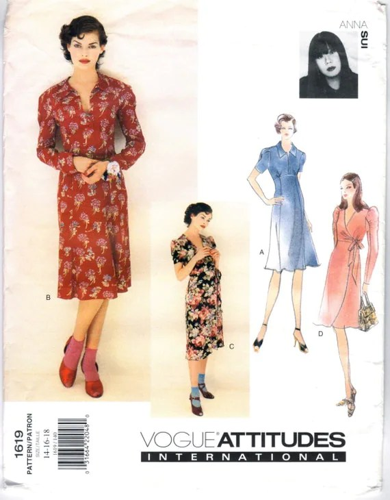 1990s Anna Sui dress pattern - Vogue 1619