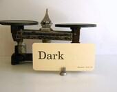 Vintage Flash Card Dark Word Card Idea 1986 Parades Word Card Scrapbook Altered Art - RollingHillsVintage