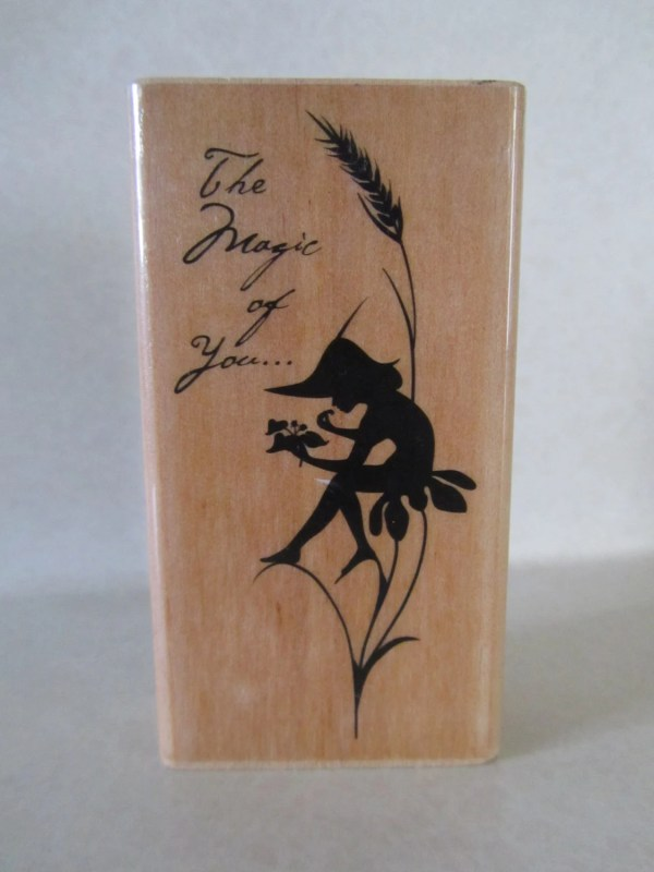 Fairy Rubber Stamp wood mount