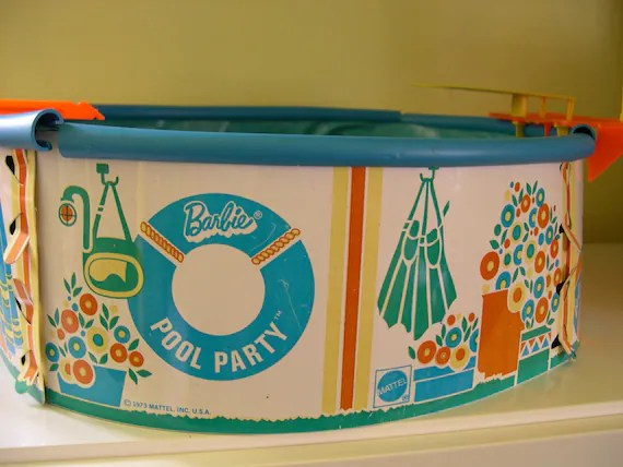 Vintage Mattel Barbie Swimming Pool in Original Box 1973