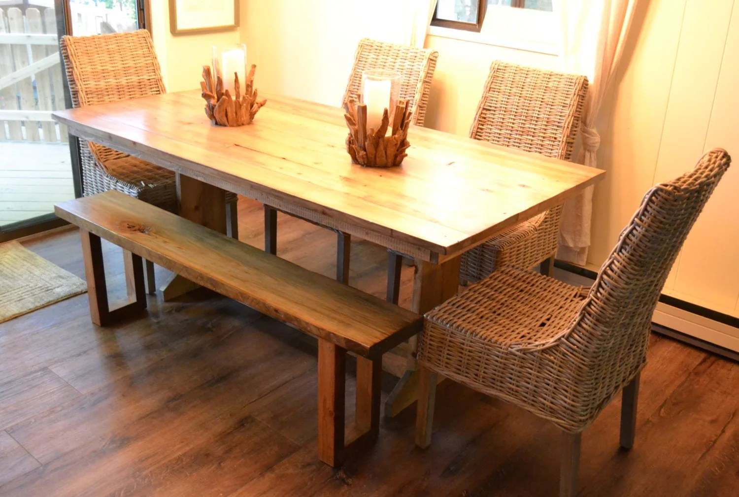 Reclaimed Wood Farm Table Dining Table Kitchen Table