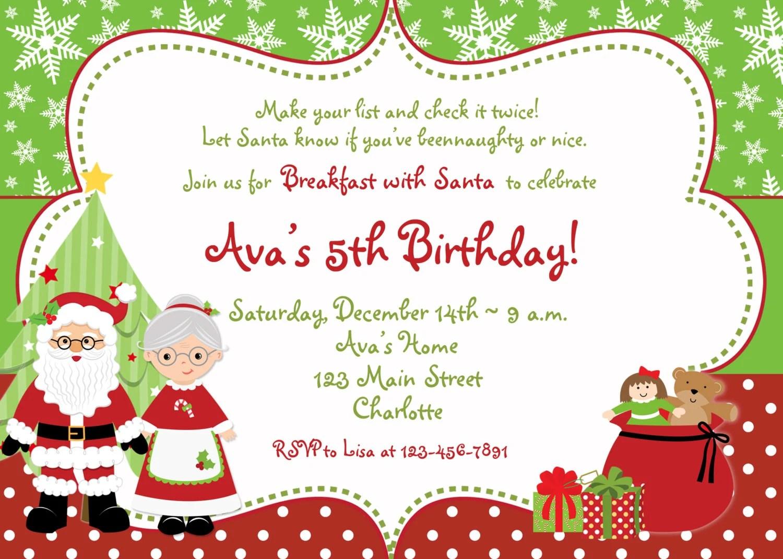 Xmas Birthday Invitations