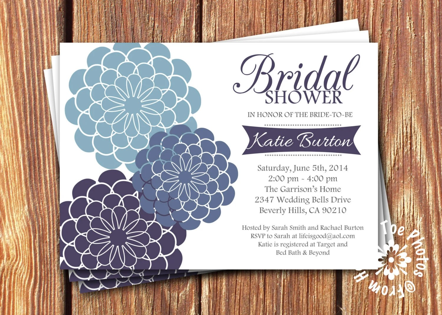 Bridal Shower Invitations Sams Club