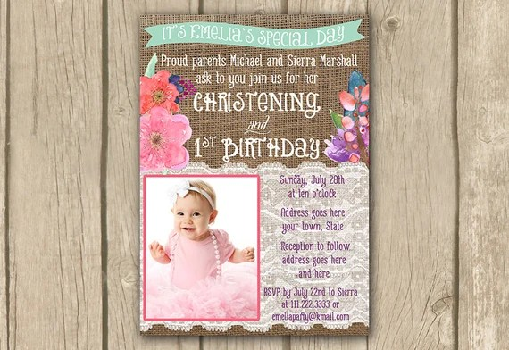 Sample invitation for christening and first birthday inviview sample invitation for christening and 1st birthday choice image stopboris Image collections