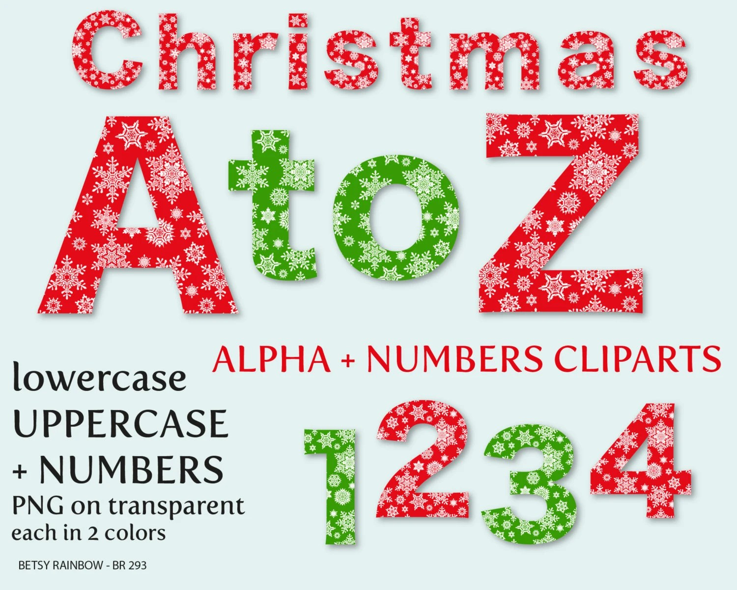 Christmas Alphabet Clip Art Letters And Numbers Letter