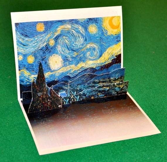 Items Similar To Multi Purpose Pop Up Card Van Goghs