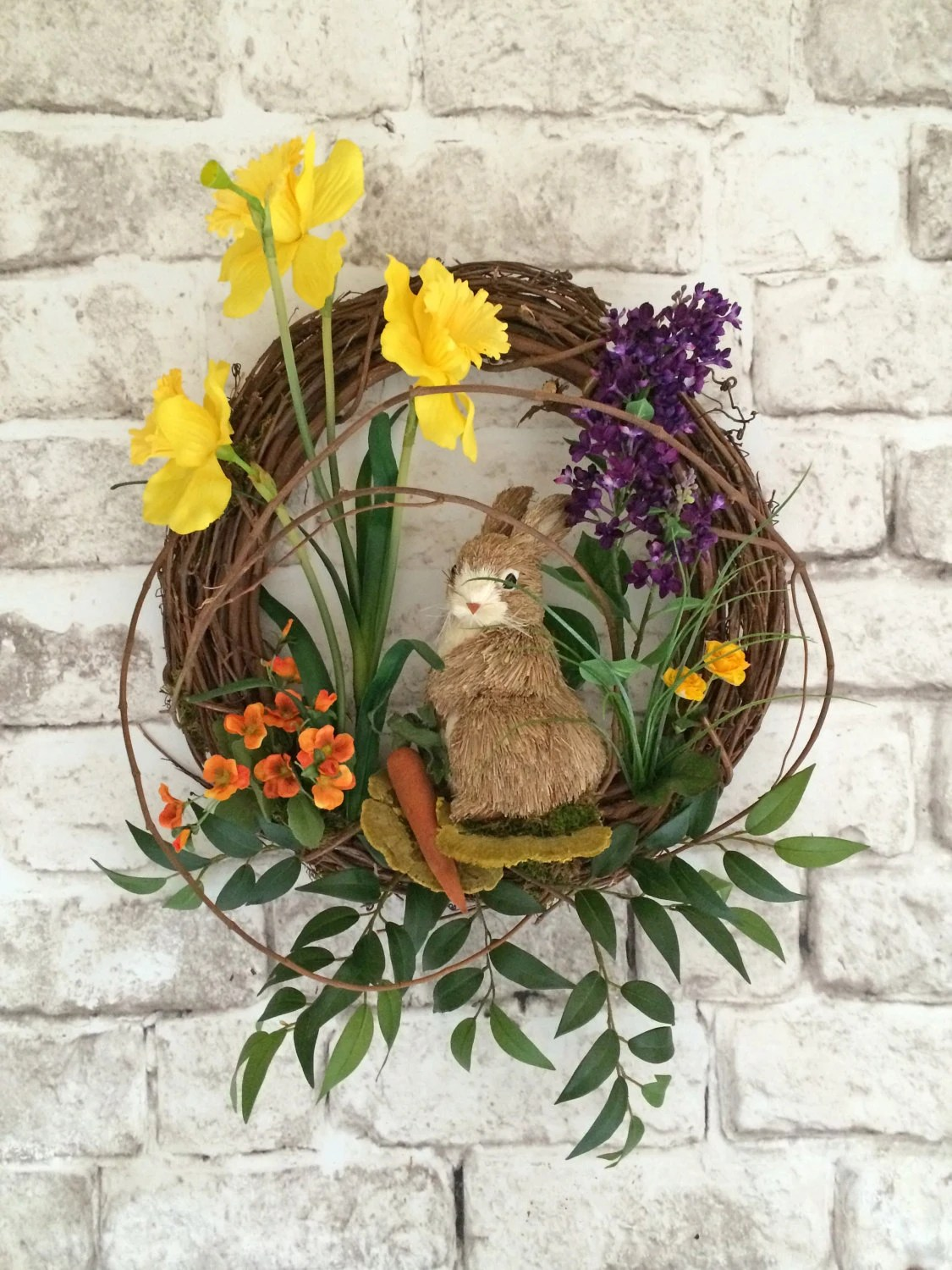 Easter Wreath Easter Bunny Wreath Easter Decor Spring