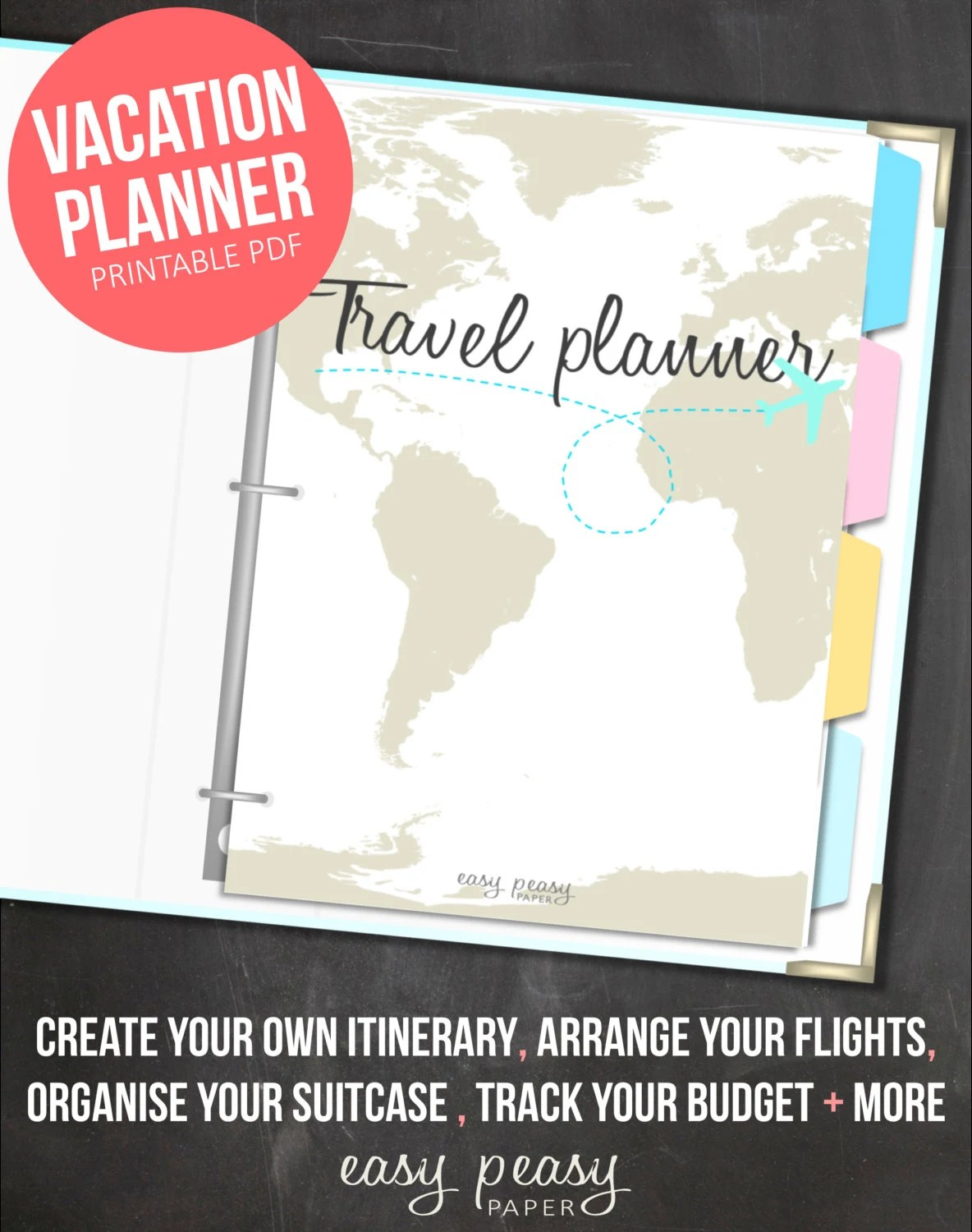 Vacation Planner Printable Holiday Planner
