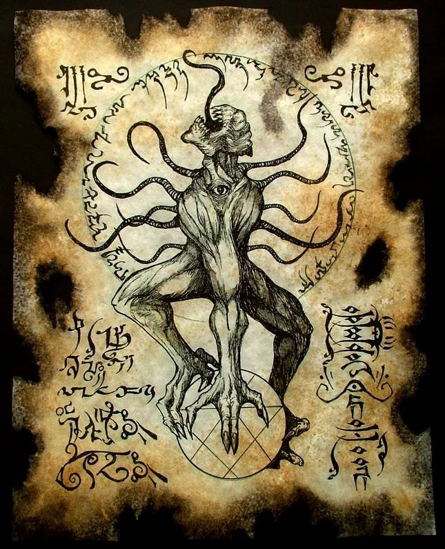 Lovecraft Necronomicon Pages