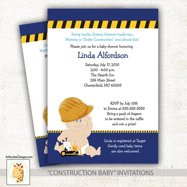 Print My Own Baby Shower Invitations