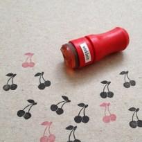 Mini Cherry Rubber Stamp