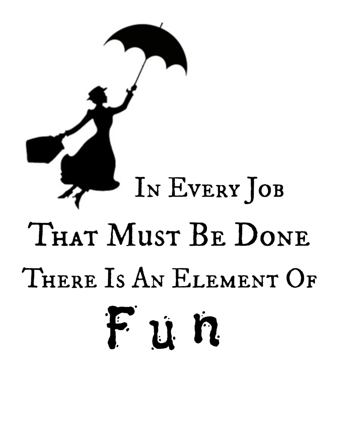 Mary Poppins Quote Printable Instant By Rachelsmagicalprints