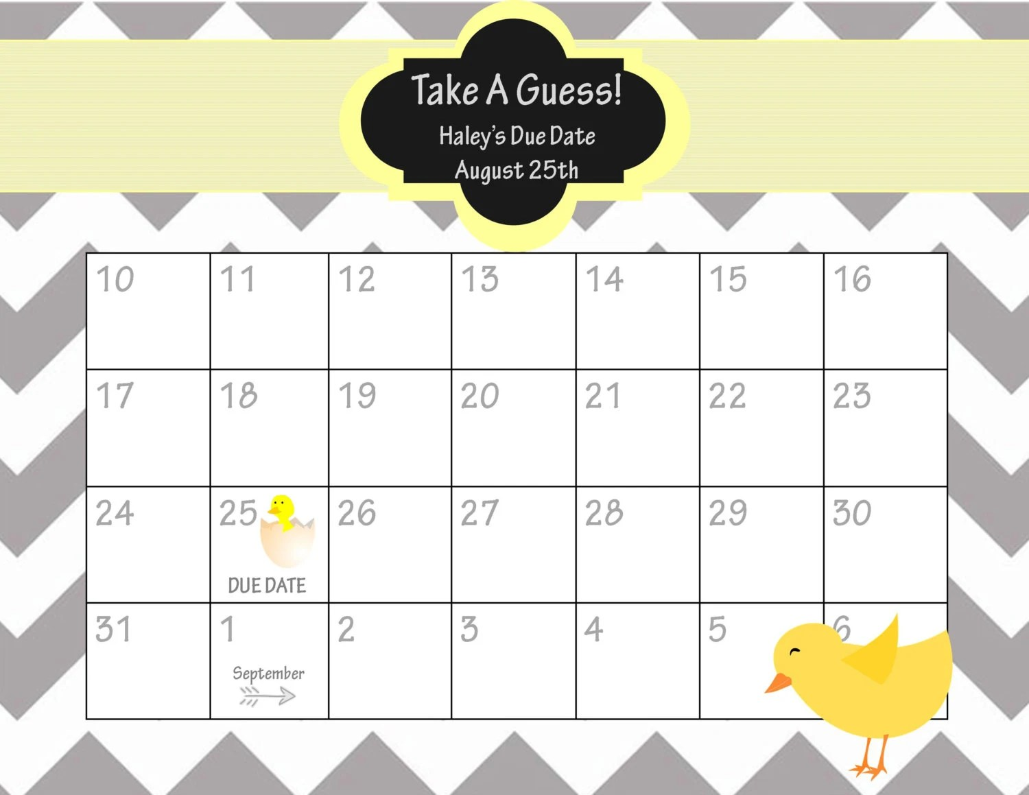 guess the baby weight template - baby guessing game printable template