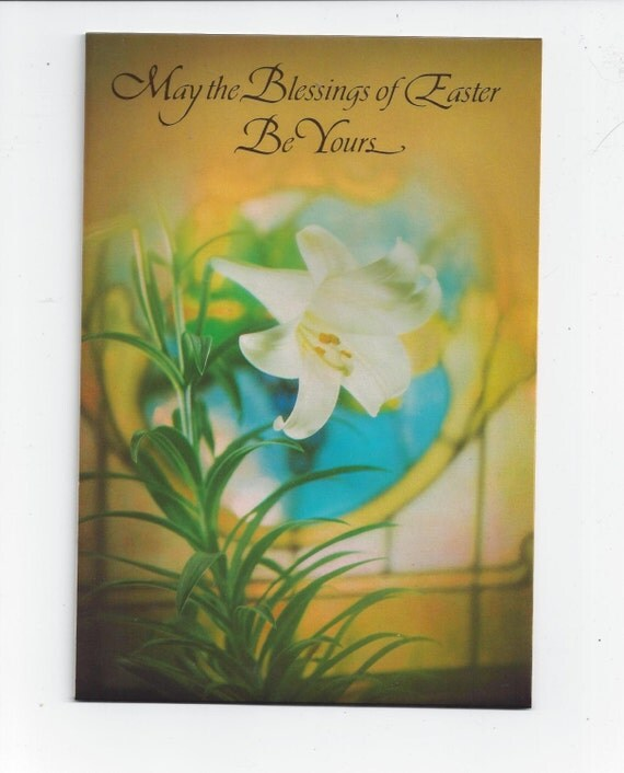 1970s Easter Greeting Card by Hallmark Featuring Plastic