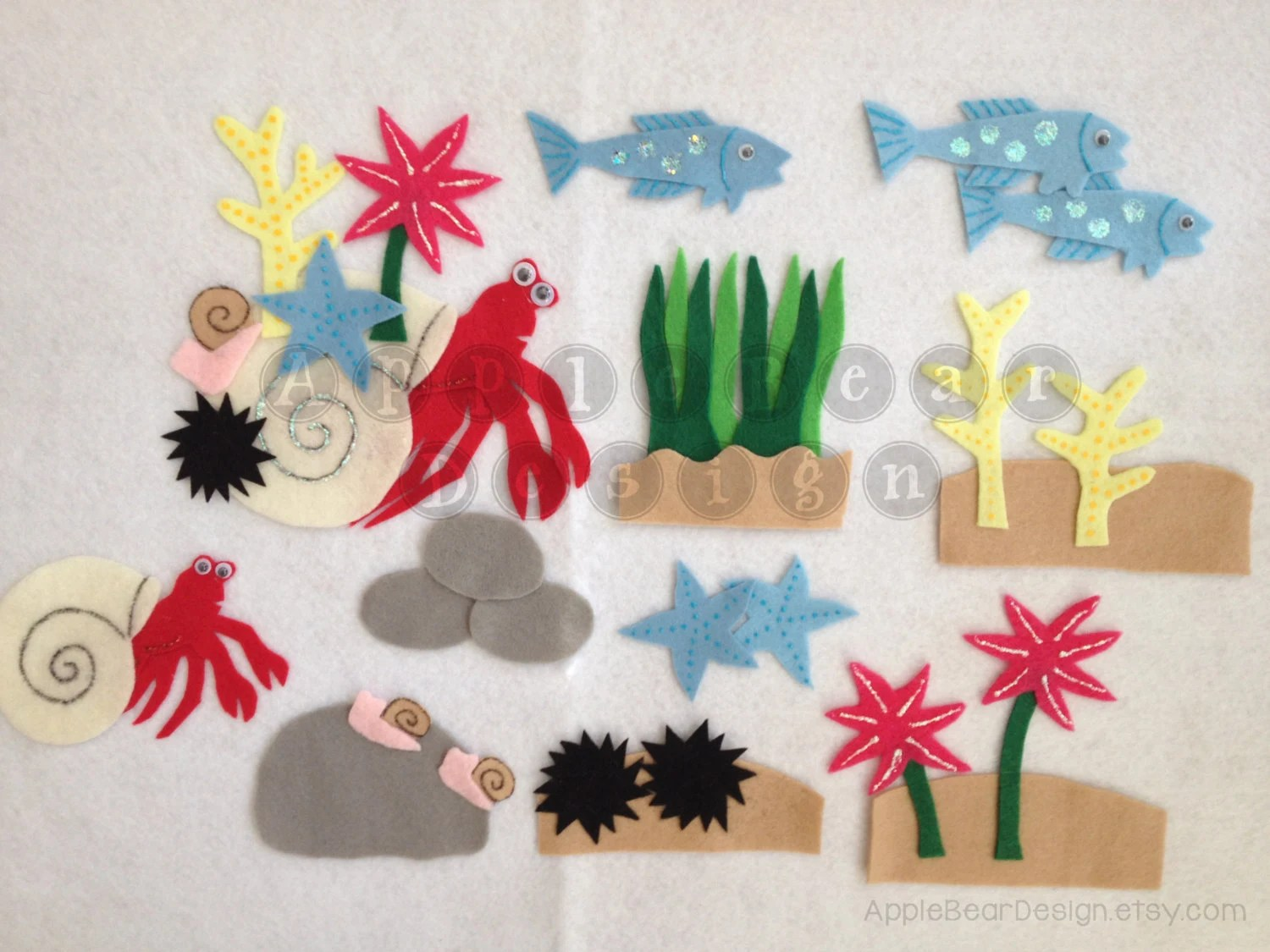 Felt Board Story Set A House For Hermit Crab