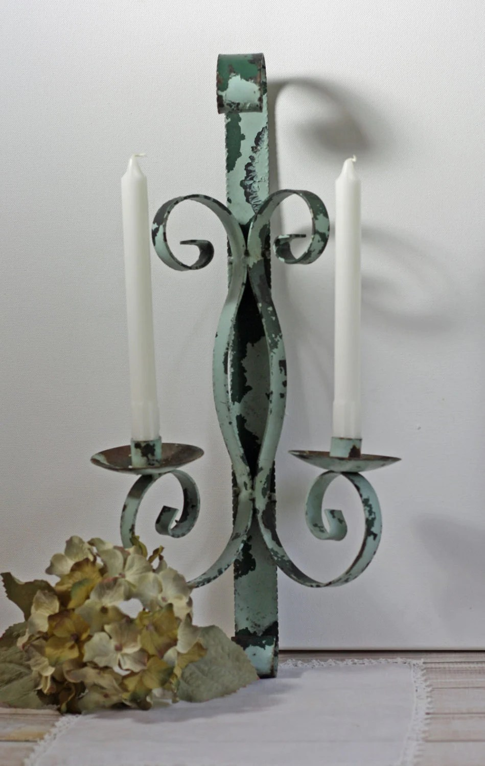 Vintage Wrought Iron Candle Holder Wall by Cottonridgevintage on Antique Wrought Iron Wall Candle Holders id=23700